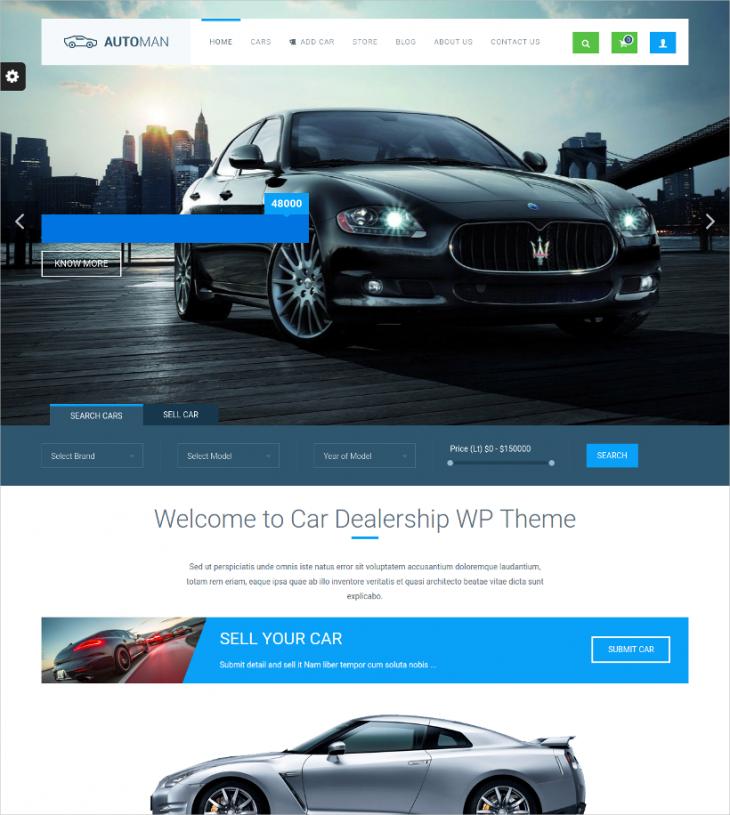 Retina Ready Car Dealer WordPress Theme