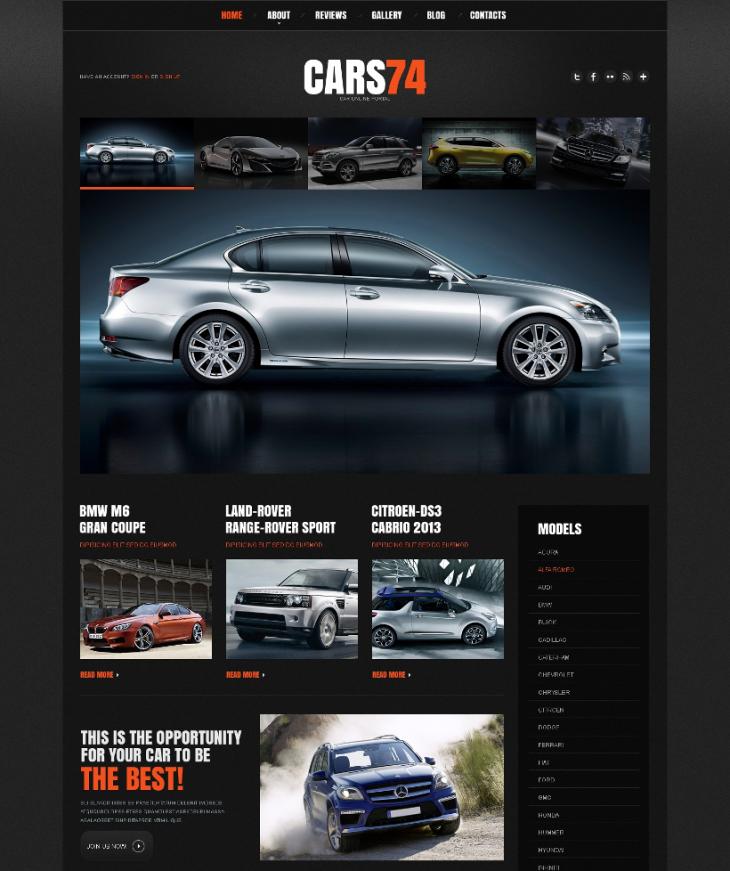 Automotive Responsive Car Dealer WordPress Theme