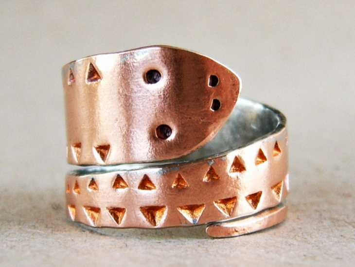 snake copper ring idea