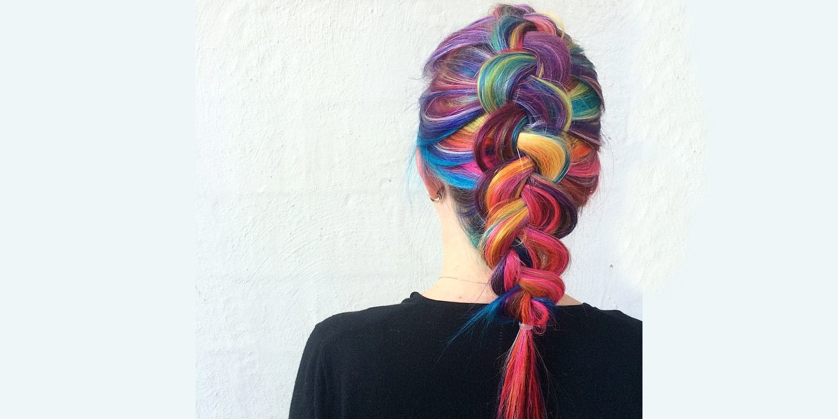 rainbow dutch braid