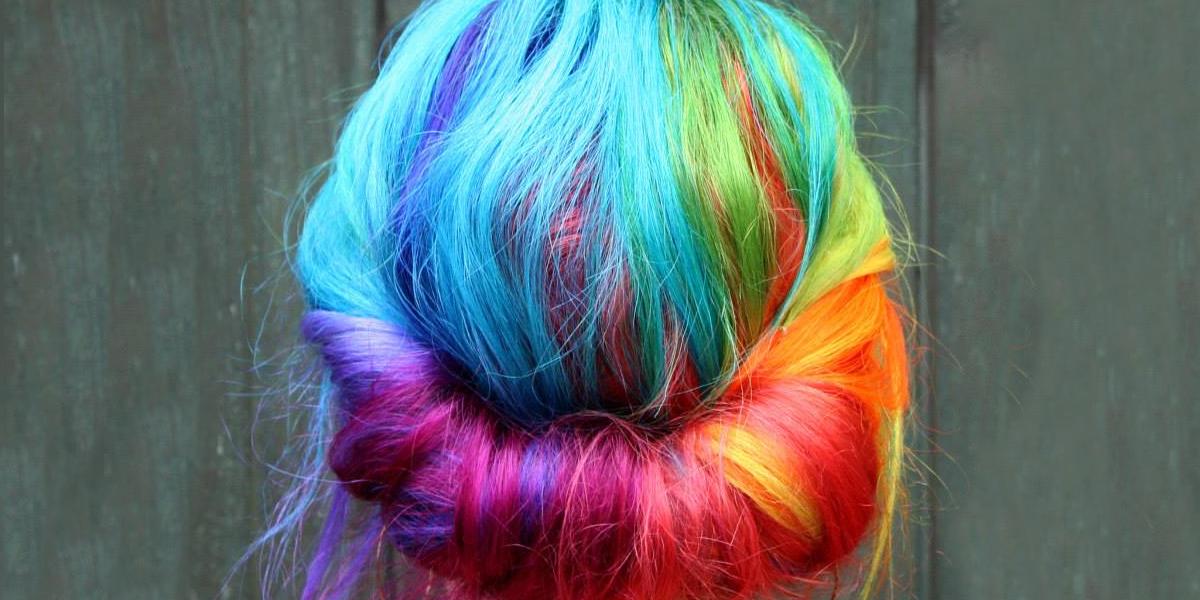Rainbow Style Messy Bun