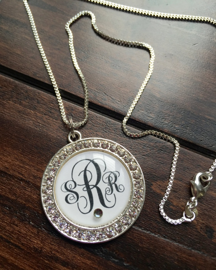 rhinestone monogram jewelry