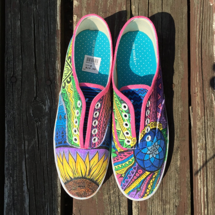 Custom Psychedelic Shoes
