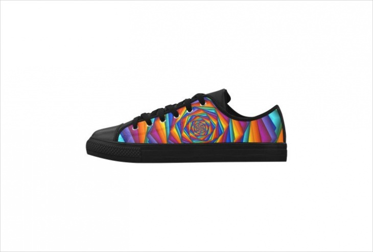 Leather Psychedelic Shoes