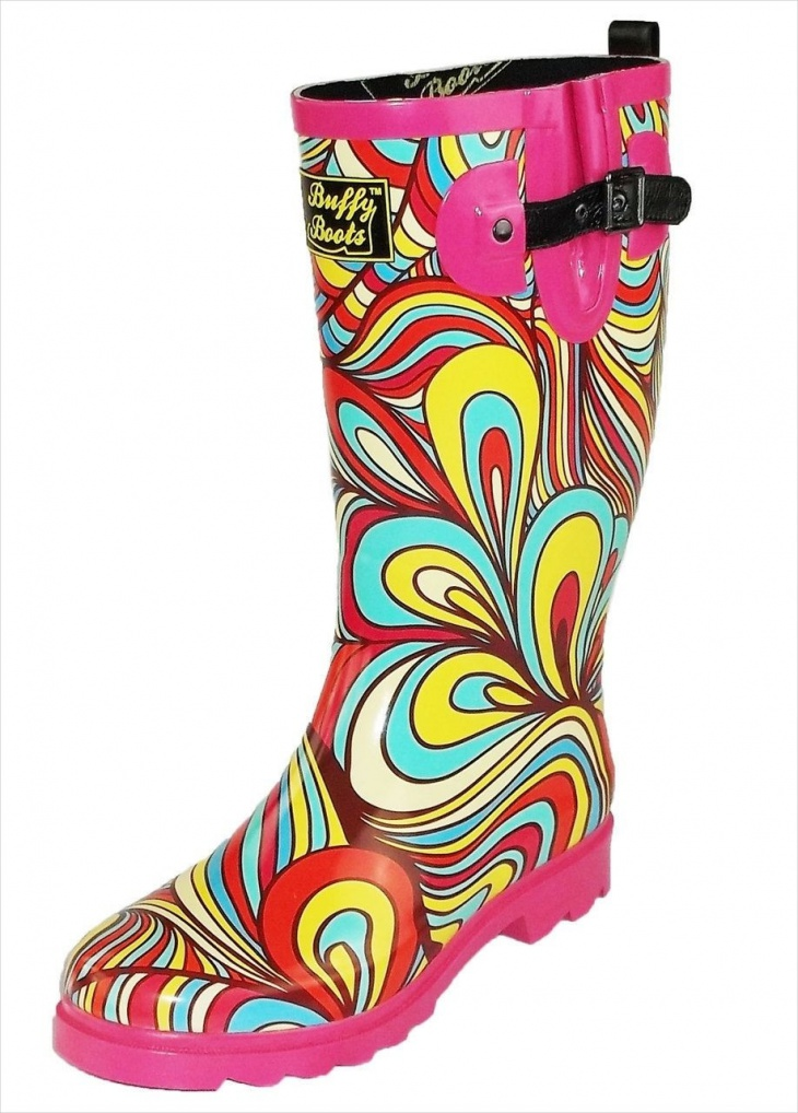 Psychedelic Rain Boots for Women