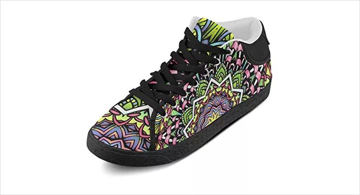 Floral Psychedelic Shoe Design