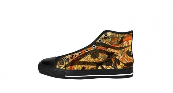 psychedelic patterns sneakers