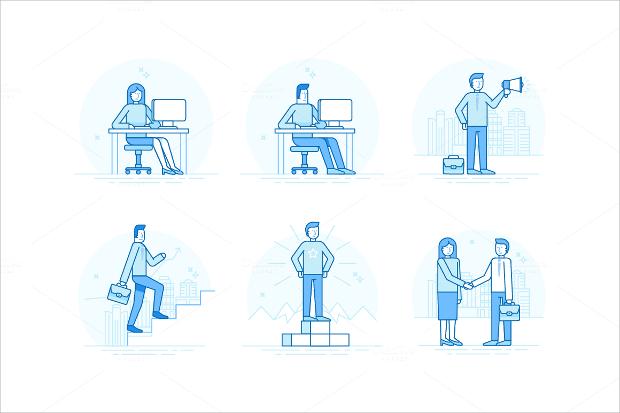 Vector EPS Entrepreneur Icons