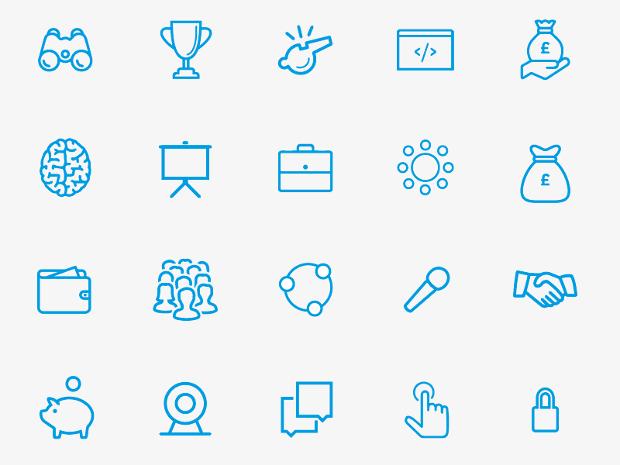 Full Entrepreneur Icon Set