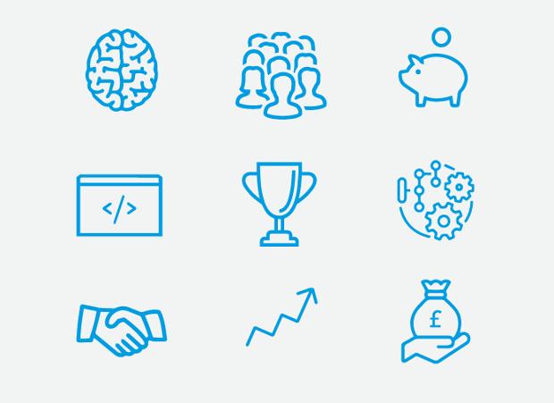 Entrepreneur Report Icons