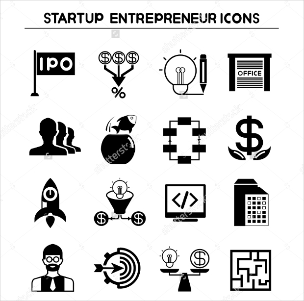 Startup Entrepreneur Icons