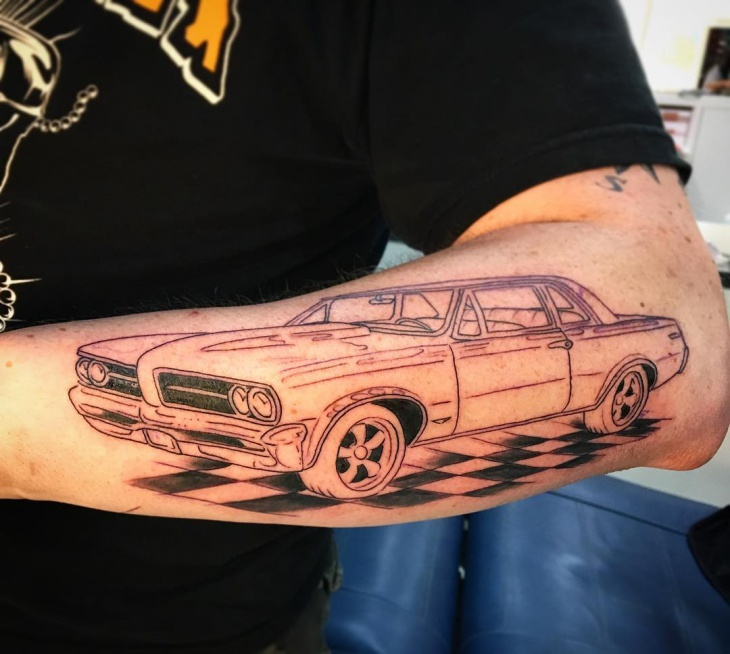 Muscle Car Tattoo Design