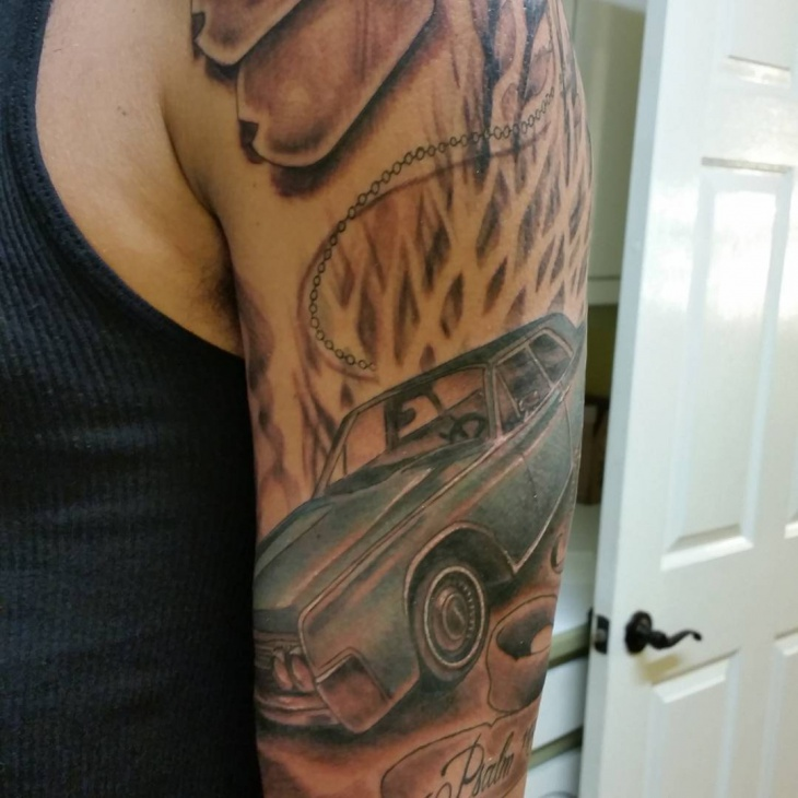 Car Sleeve Tattoo Design