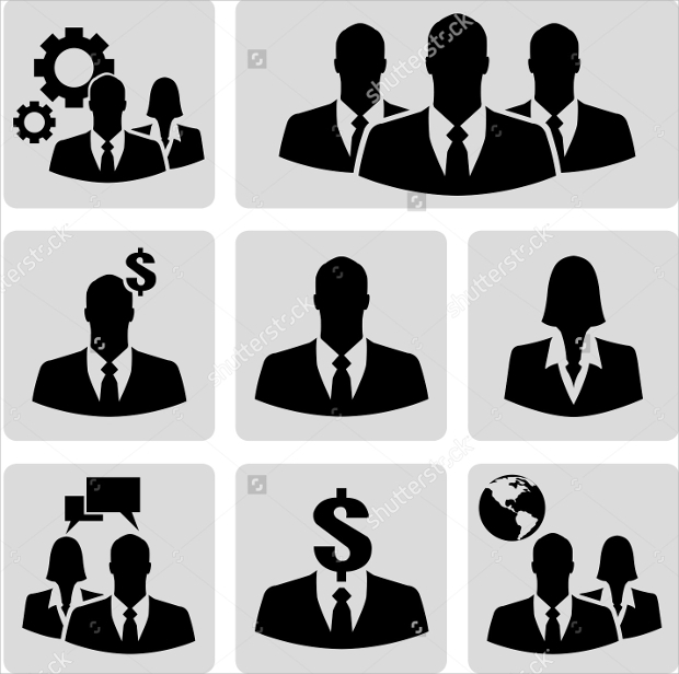 Businessman Vector Icon set