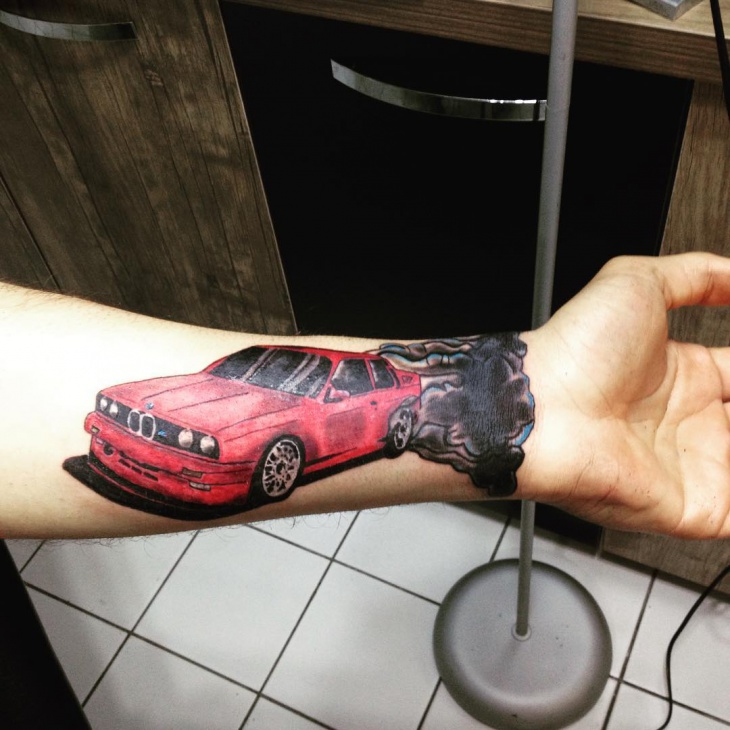classic car tattoo design