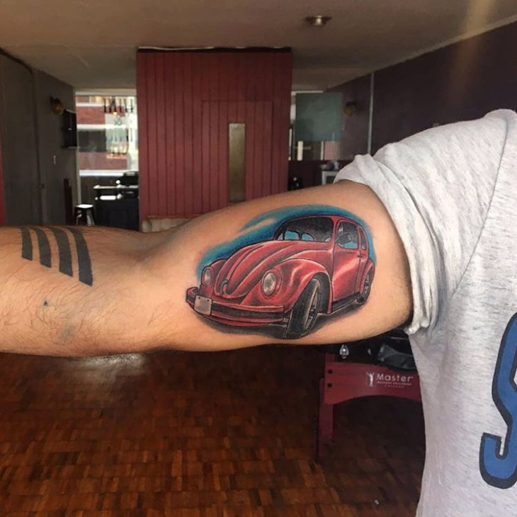 Red Car Tattoo Design