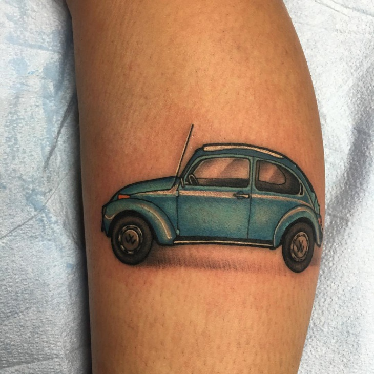 Simple Car Tattoo Idea