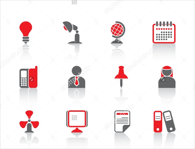 business professional icon set