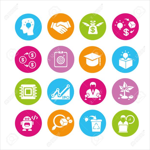Startup Enterpreneur Icons