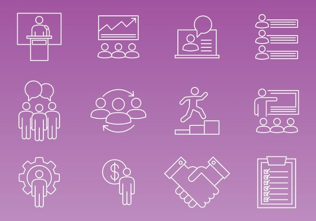 Thin line Enterpreneur Icons