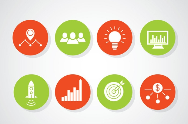 Entrepreneurship Circle Icons