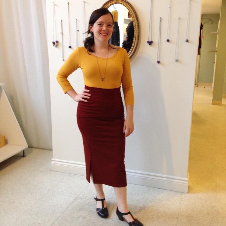 long sheath skirt