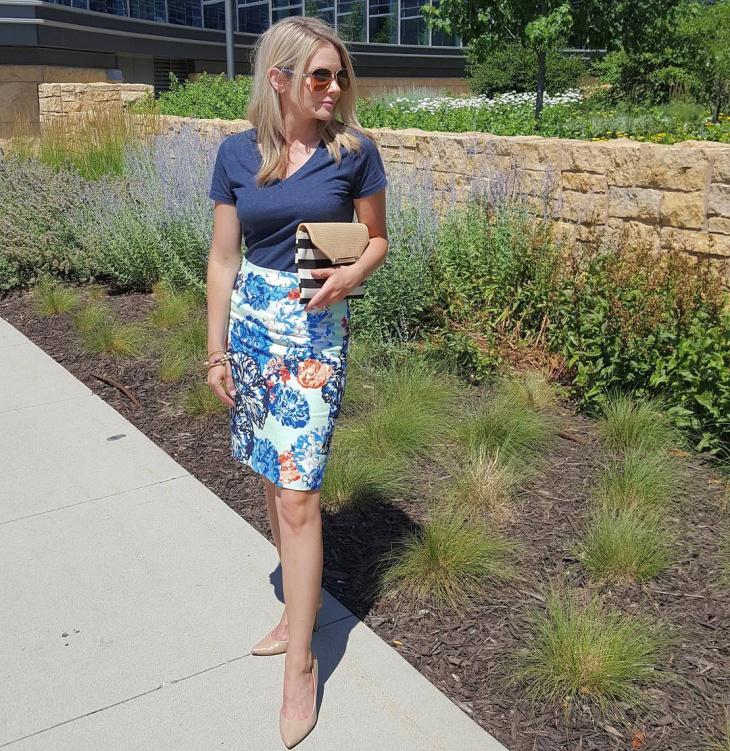 floral sheath skirt pattern