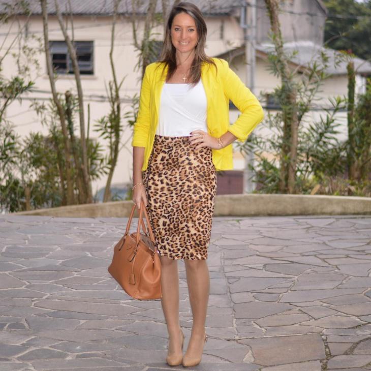 animal print sheath skirt