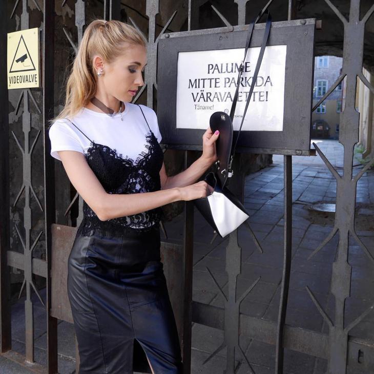 leather sheath skirt