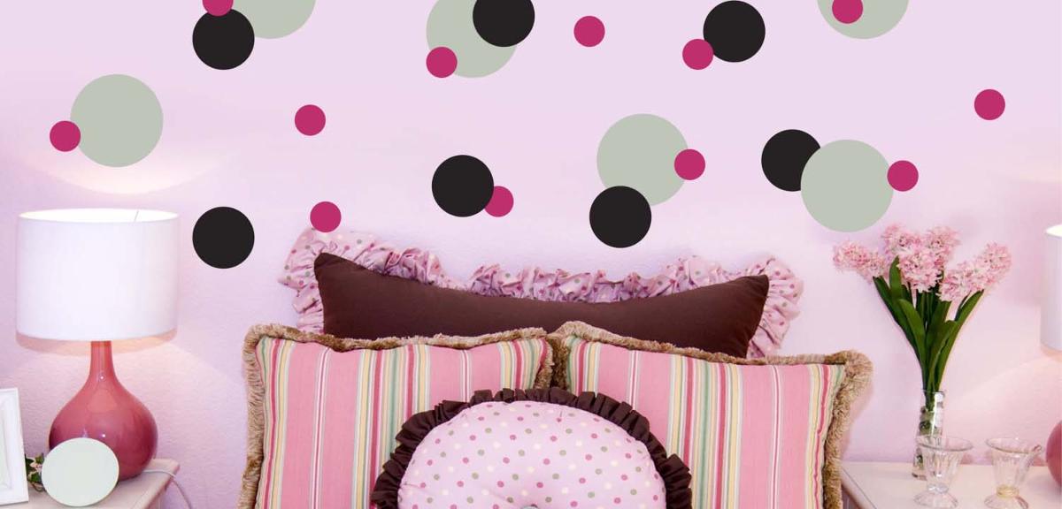 bright polka dot wall