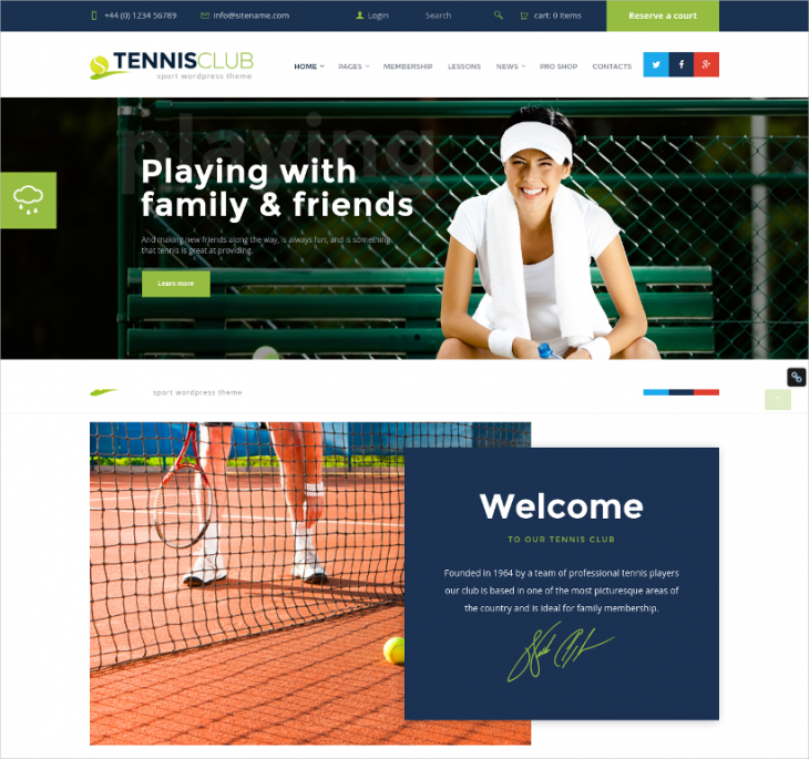 Sports Event WordPress Theme