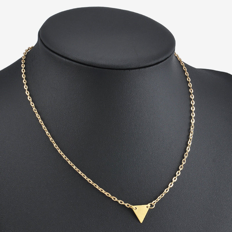gold geometric necklace