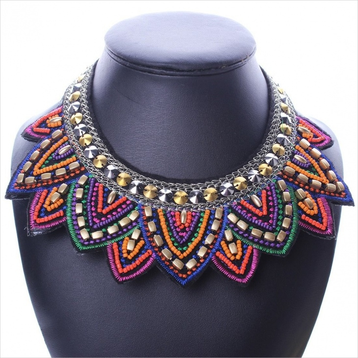 tribal geometric necklace1