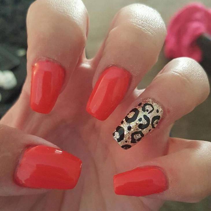 acrylic wild nail design