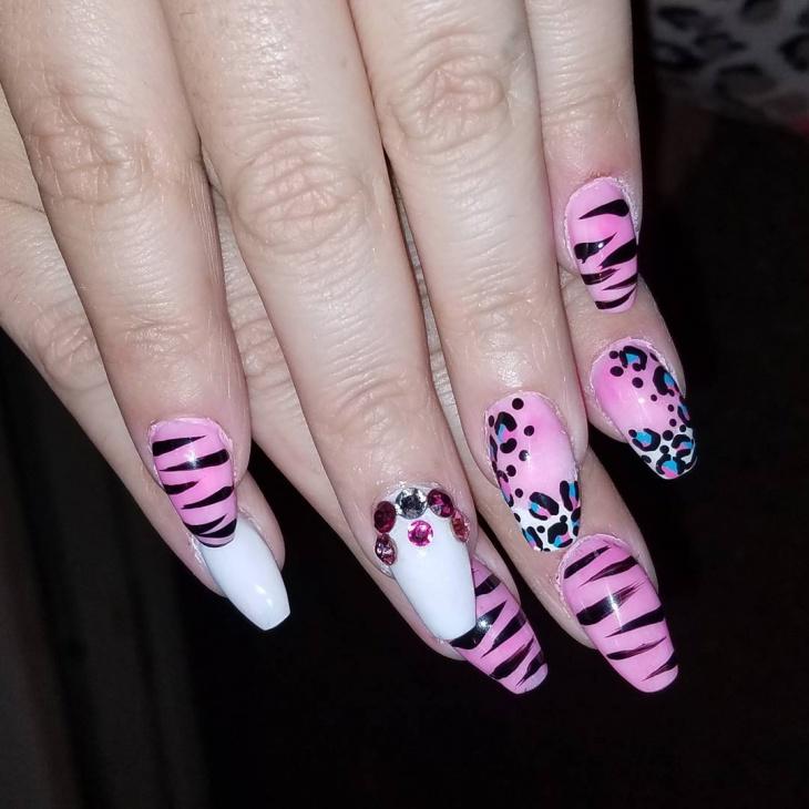 wild neon nail design