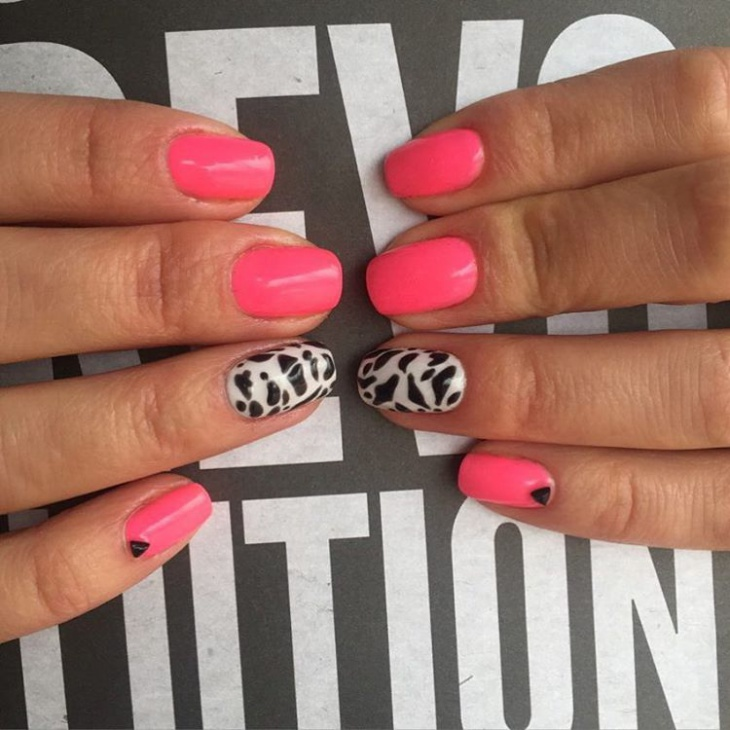 Cute Pink Wild Nails
