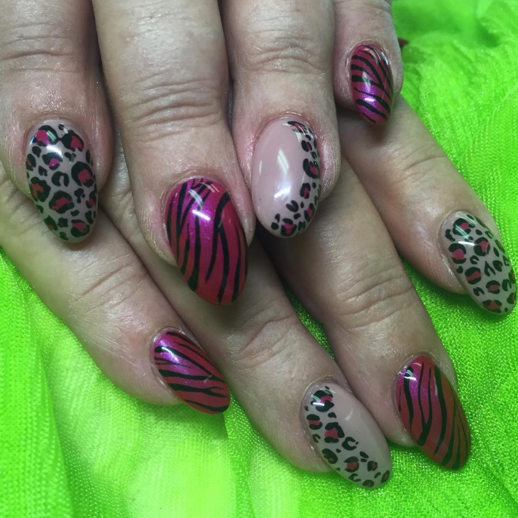 bright colored wild nails