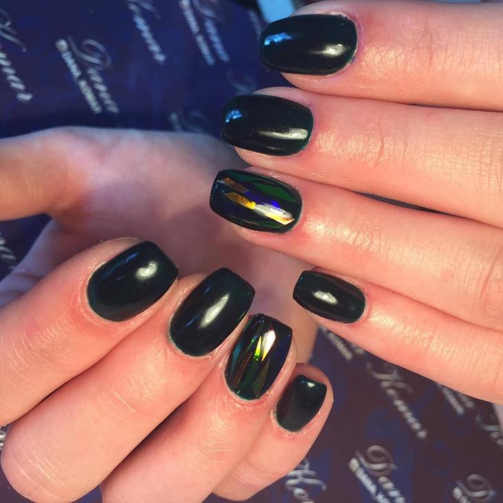 Glass Gel Nail Art