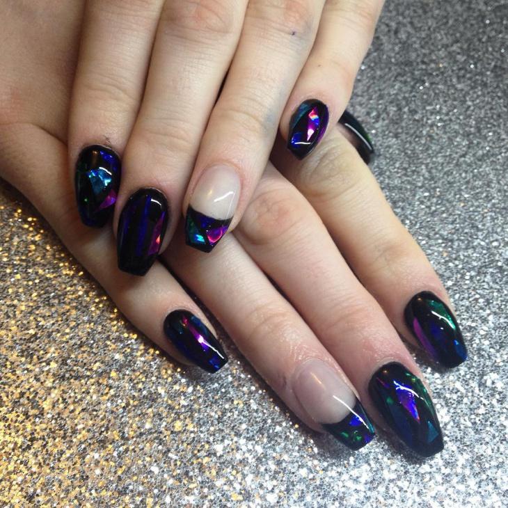 Glass Tip Nail Design Idea