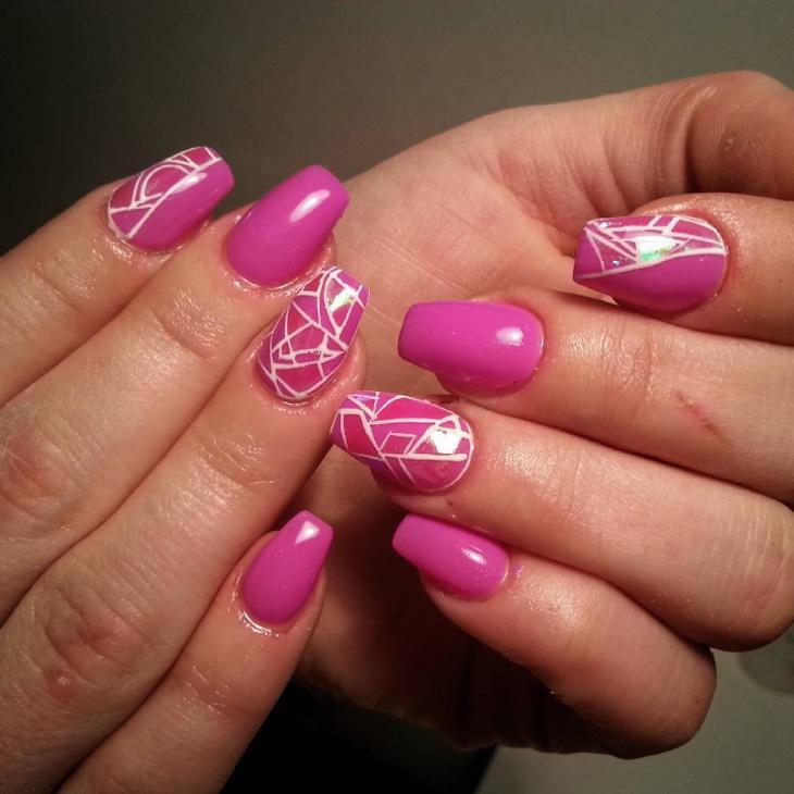 Strip Glass Nail Art Idea