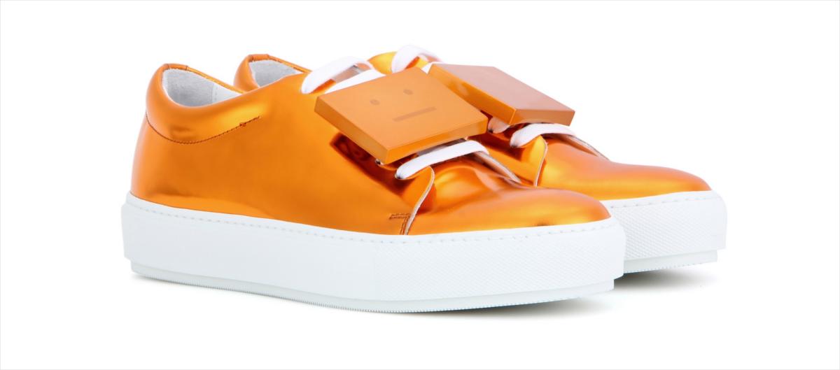 Acne Metallic Leather Sneakers