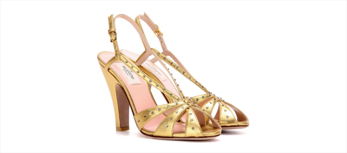 Valentino Metallic Sandals-$681