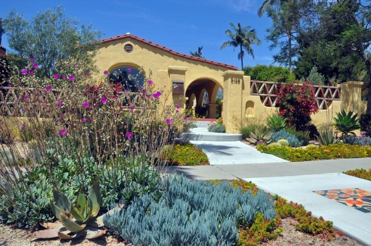 Front Yard Mediterranean Garden