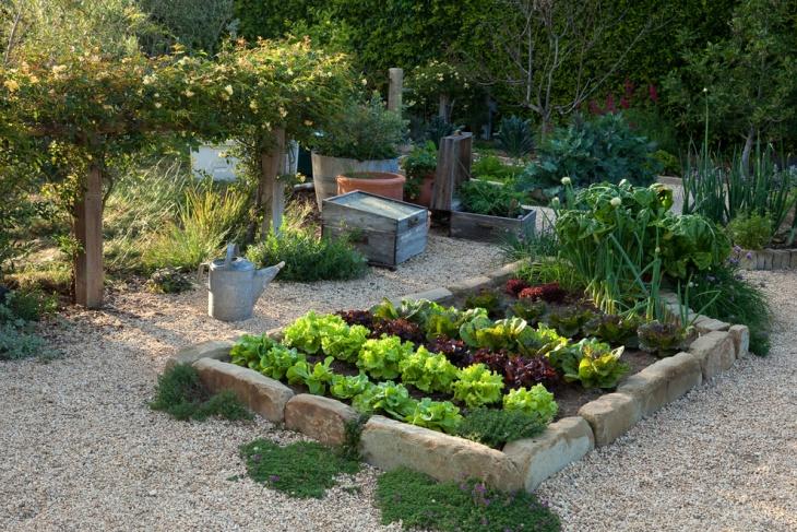 Mediterranean Vegetable Garden Idea