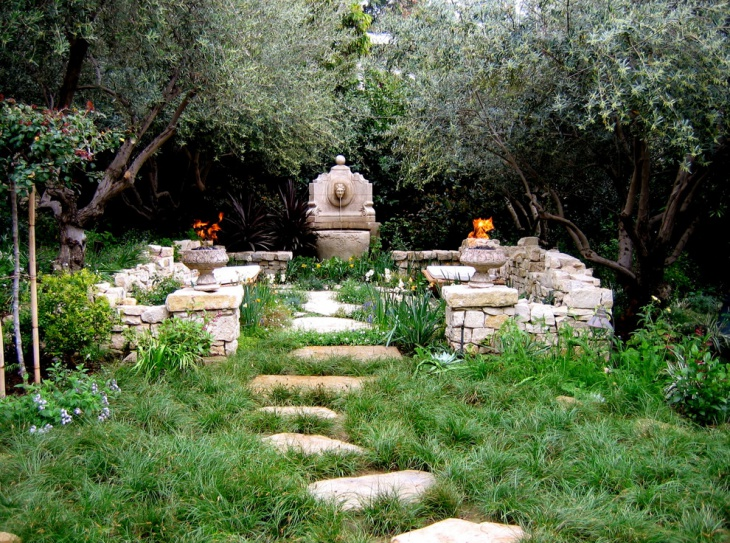 18 mediterranean garden designs ideas design trends for Garden area design