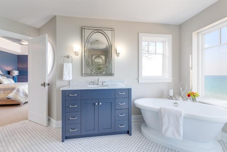17+ Nautical Bathroom Designs, Ideas