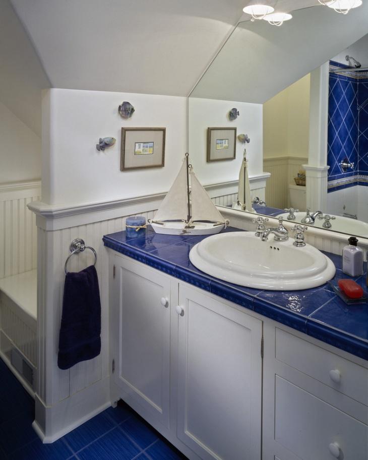 17 nautical bathroom designs ideas design trends for Lighthouse themed bathroom ideas