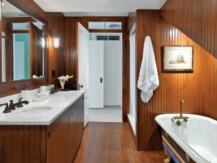 17+ Nautical Bathroom Designs, Ideas