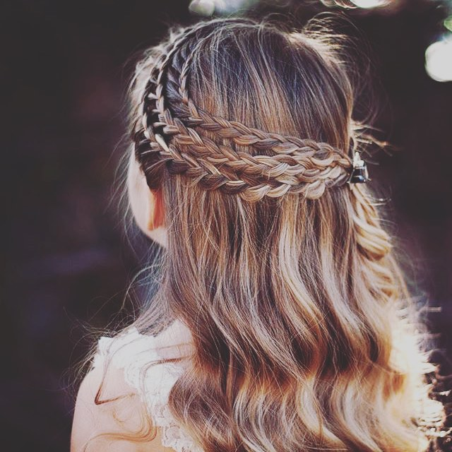 Triple Twist Waterfall Braid Hairstyle