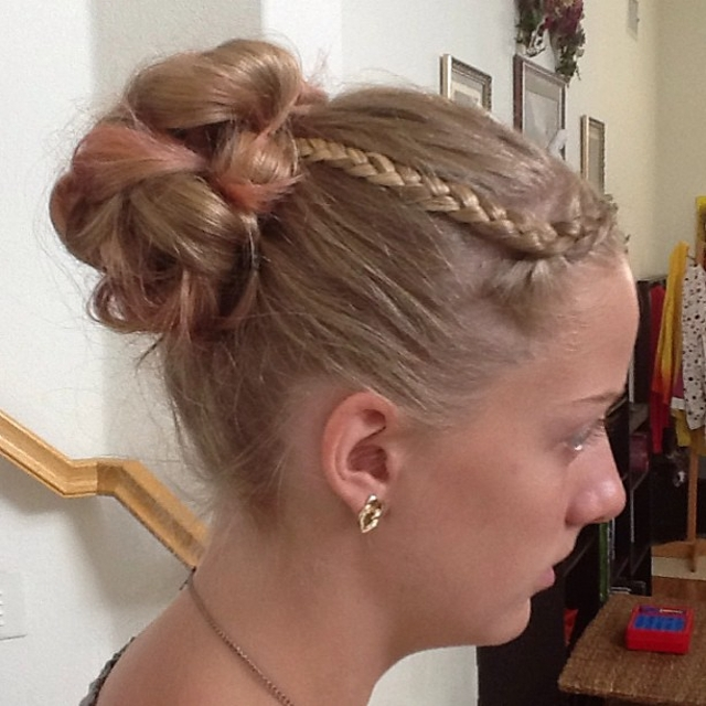 triple braid updo hair